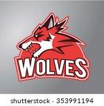 wolves symbol illustration...