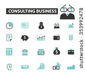 consulting business   financial ... | Shutterstock .eps vector #353992478