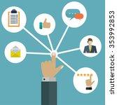 customer user interactions... | Shutterstock .eps vector #353992853