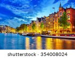 Famous Amstel River And Night...