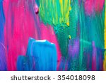 abstract art background. hand... | Shutterstock . vector #354018098