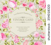 awesome vintage label of color... | Shutterstock .eps vector #354018320