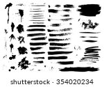 set of ink hand drawn brush... | Shutterstock . vector #354020234