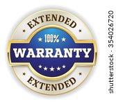 blue extended warranty badge... | Shutterstock .eps vector #354026720