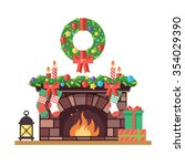 merry christmas and harry new...   Shutterstock .eps vector #354029390