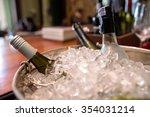 Wine Bottle In Ice Bucket