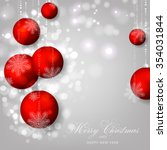 christmas invitation with... | Shutterstock .eps vector #354031844