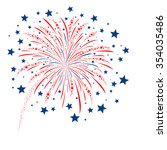 Vector Firework Design On White ...