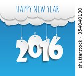 happy new year 2016 cloud and... | Shutterstock .eps vector #354040130