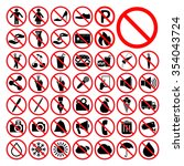set of universal prohibition... | Shutterstock .eps vector #354043724