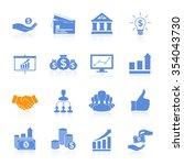 business icons management and... | Shutterstock .eps vector #354043730