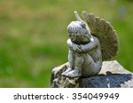 Angel Statue In The Cemetery