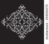 vintage baroque frame scroll... | Shutterstock .eps vector #354050270