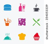 food  drink icons. coffee and... | Shutterstock .eps vector #354053339