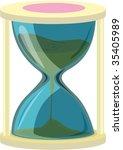 illustration of sand clock on...   Shutterstock .eps vector #35405989