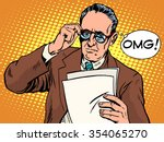 omg surprised boss business... | Shutterstock .eps vector #354065270