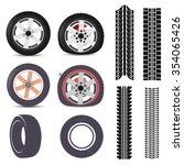 tires | Shutterstock .eps vector #354065426