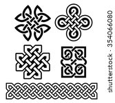 celtic irish patterns and... | Shutterstock .eps vector #354066080