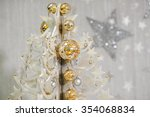 beautiful holiday decorated... | Shutterstock . vector #354068834