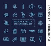 icons for medicine | Shutterstock .eps vector #354087374