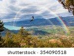 rainbow over the valley | Shutterstock . vector #354090518