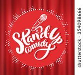 stand up comedy. | Shutterstock .eps vector #354098666