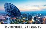 picture of parabolic satellite... | Shutterstock . vector #354100760