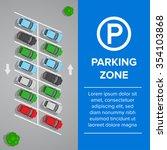 parking lot  parking sign... | Shutterstock .eps vector #354103868