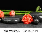 beautiful spa composition with...   Shutterstock . vector #354107444
