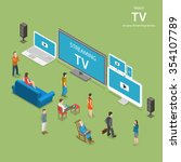 streaming tv isometric flat... | Shutterstock . vector #354107789