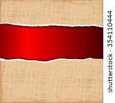 a sheet of paper ripped | Shutterstock . vector #354110444