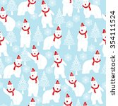 Polar Bear And Christmas Tree...
