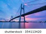 phumy bridge over sunset  ho... | Shutterstock . vector #354113420