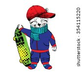Vector Clothing Cat With Skate...