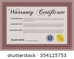 sample warranty. very detailed. ... | Shutterstock .eps vector #354125753