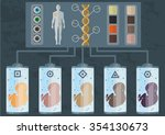 genetic manipulations and... | Shutterstock .eps vector #354130673
