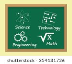 the so called stem subjects for ... | Shutterstock .eps vector #354131726
