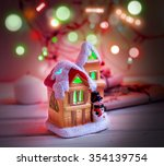 fabulous house with christmas... | Shutterstock . vector #354139754