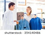 shop assistant helping to... | Shutterstock . vector #354140486