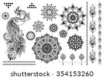 mandala set and other elements. ... | Shutterstock .eps vector #354153260