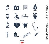 medical icons | Shutterstock .eps vector #354157064