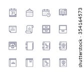 multimedia icons | Shutterstock .eps vector #354164573