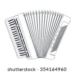 accordion drawing on white. jpg ...   Shutterstock . vector #354164960