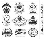 cotton badges design  organic... | Shutterstock .eps vector #354166028