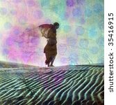 Abstract Female Figure In...