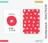 creative card templates  make a ... | Shutterstock .eps vector #354170150