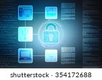 security concept  lock on... | Shutterstock . vector #354172688