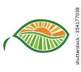 leaf and sun vector illustration | Shutterstock .eps vector #354177038