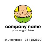 smile tummy logo icon vector... | Shutterstock .eps vector #354182810