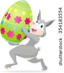 easter bunny and egg cute... | Shutterstock .eps vector #354183554